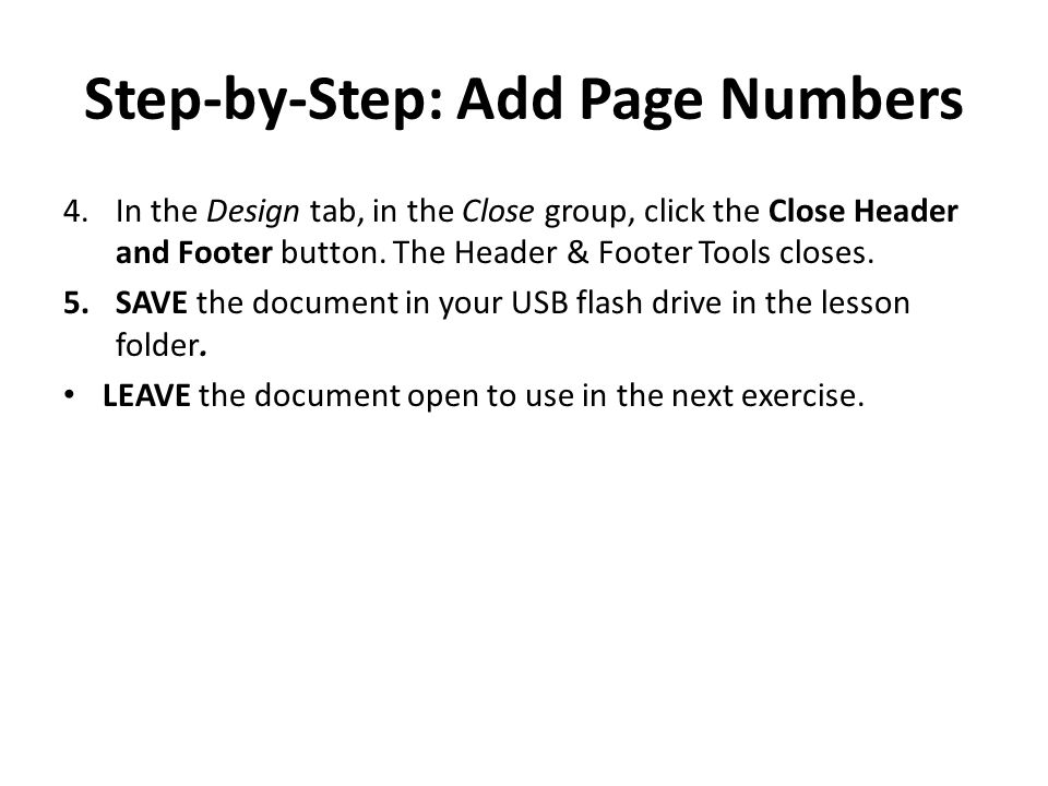 Step-by-Step: Add Page Numbers