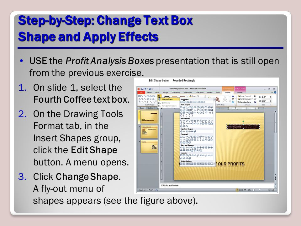Step-by-Step: Change Text Box Shape and Apply Effects