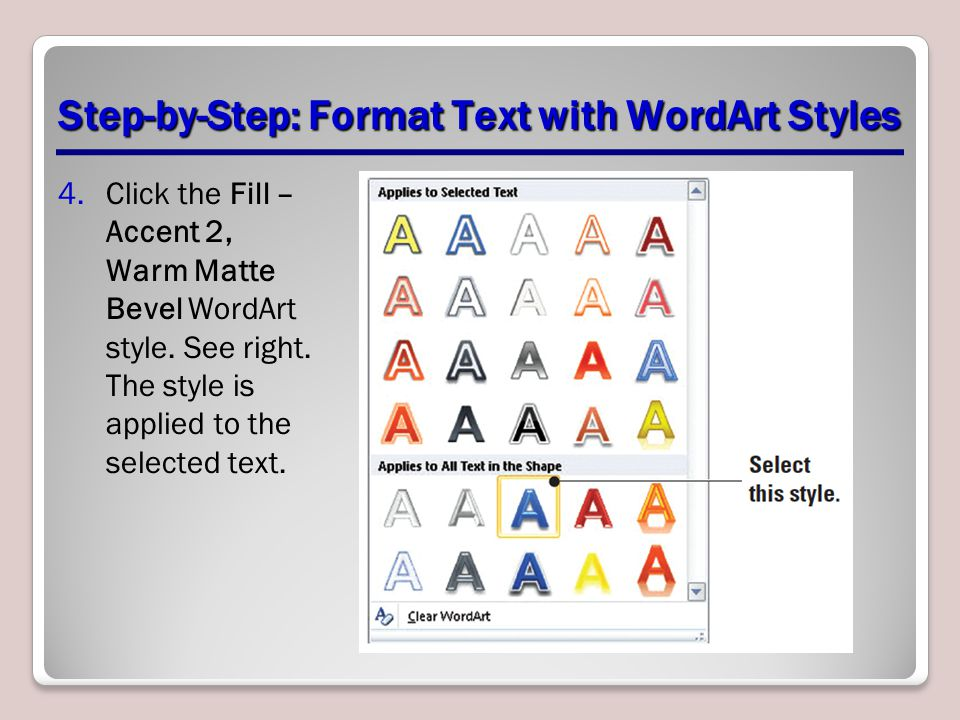 Step-by-Step: Format Text with WordArt Styles