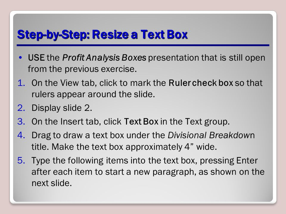 Step-by-Step: Resize a Text Box