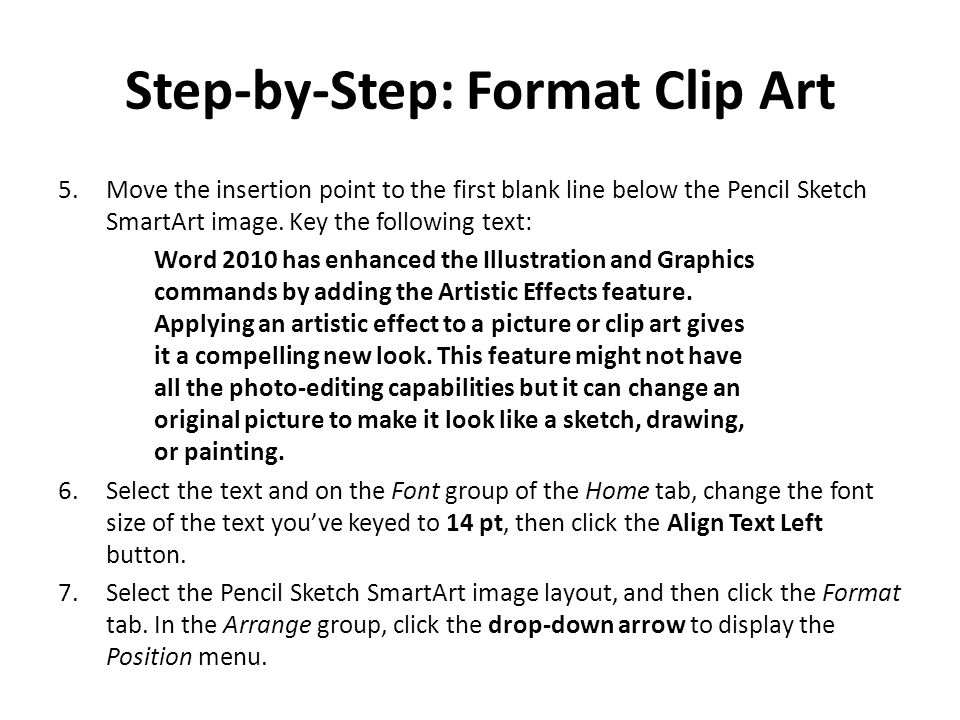 Step-by-Step: Format Clip Art