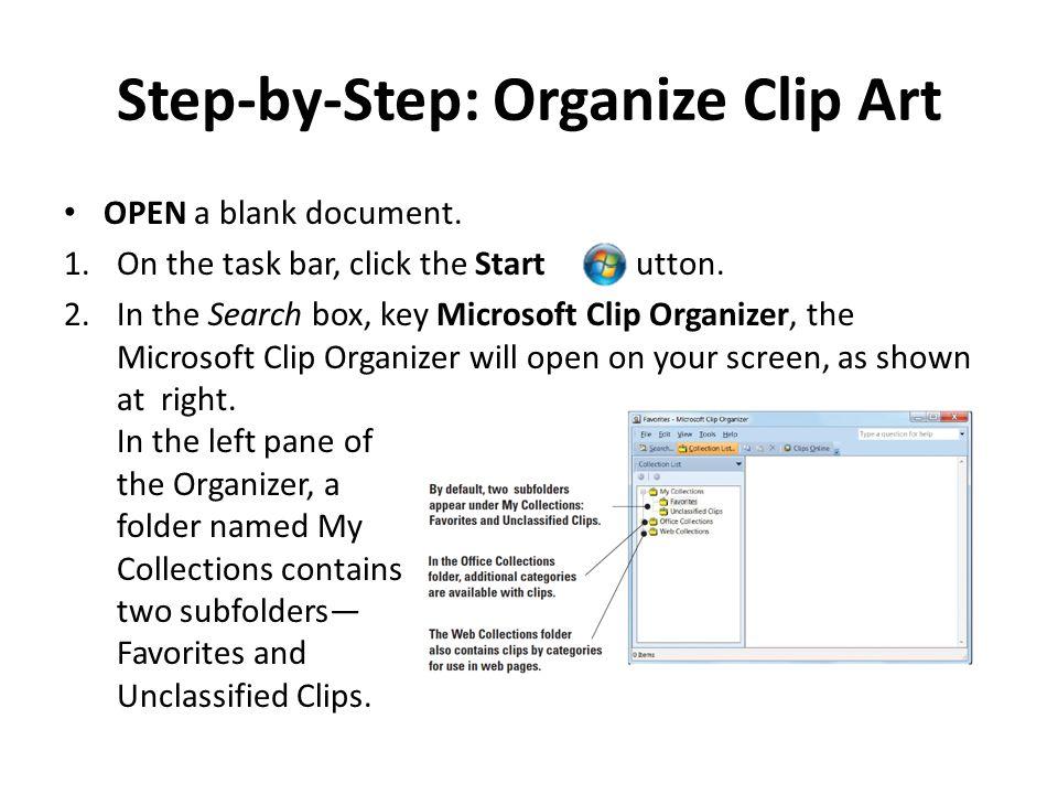 Step-by-Step: Organize Clip Art