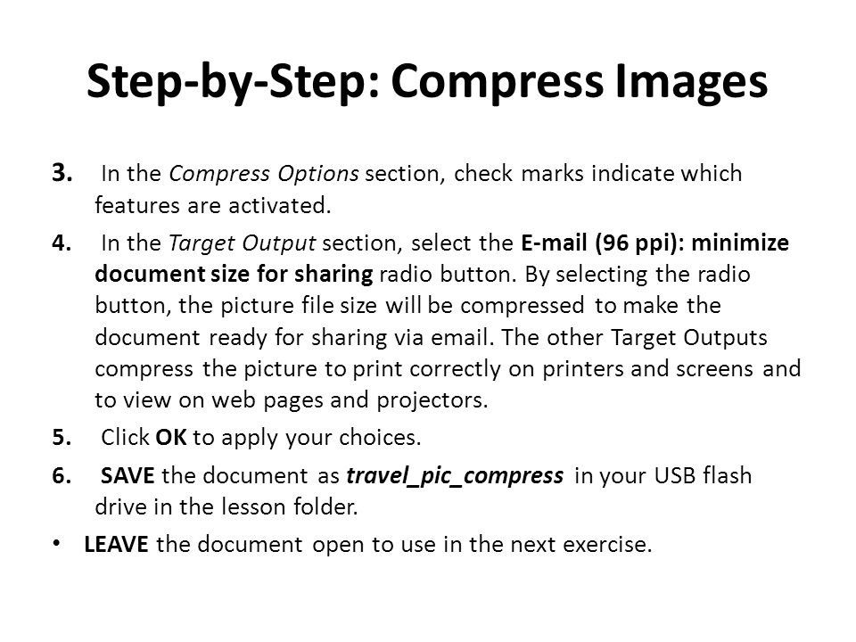 Step-by-Step: Compress Images