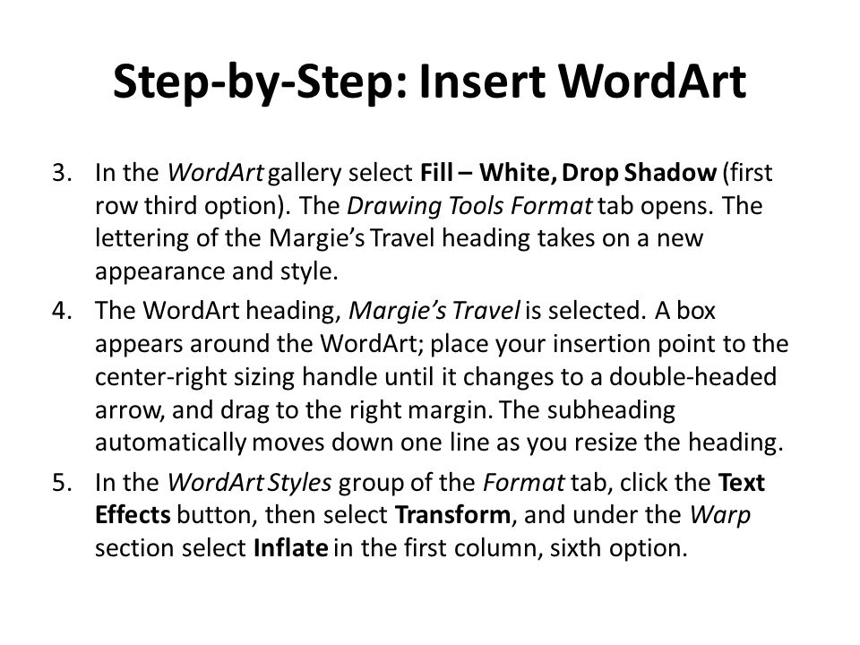 Step-by-Step: Insert WordArt
