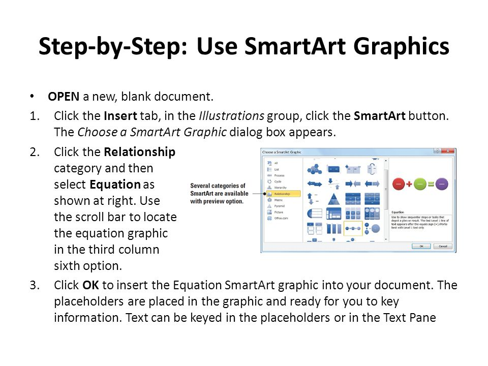 Step-by-Step: Use SmartArt Graphics