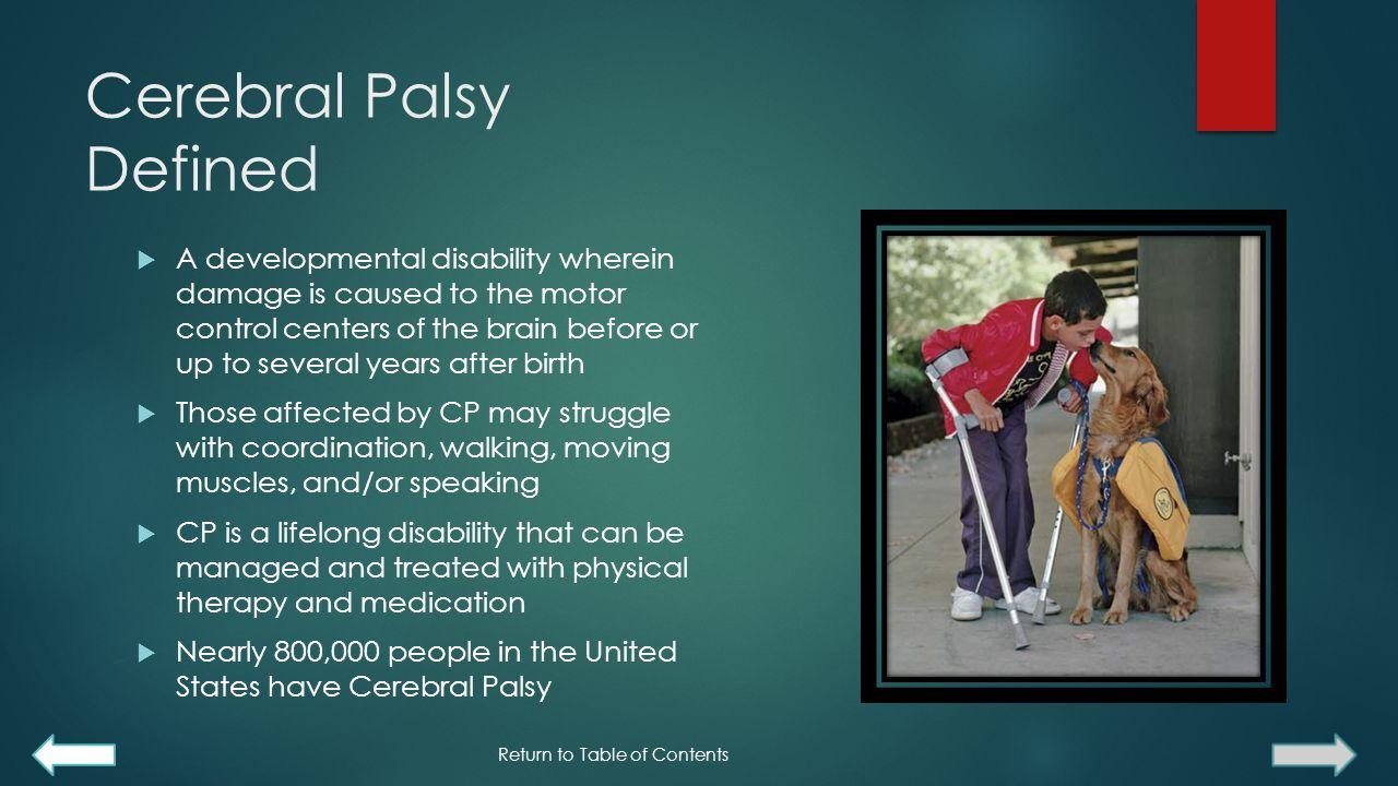 Cerebral Palsy Defined