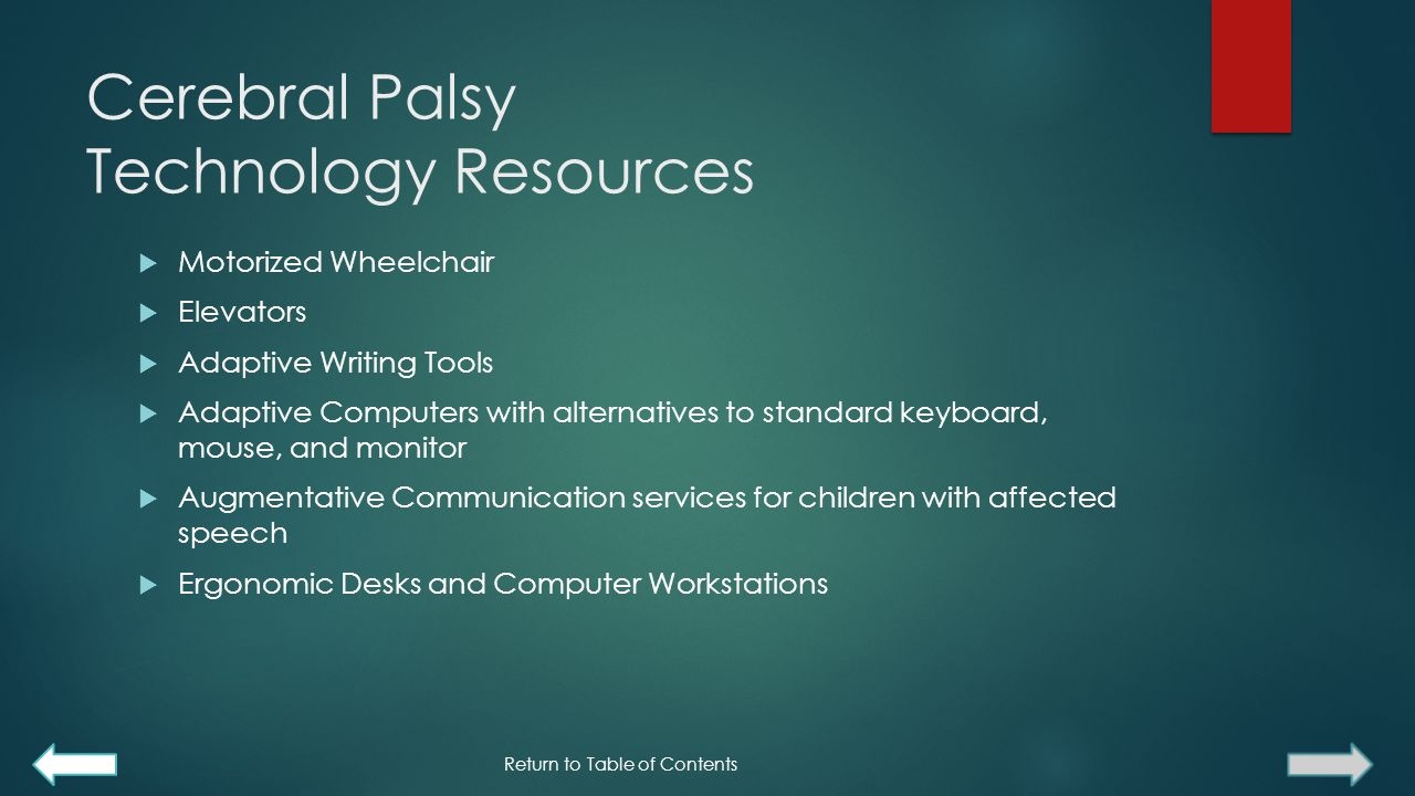 Cerebral Palsy Technology Resources