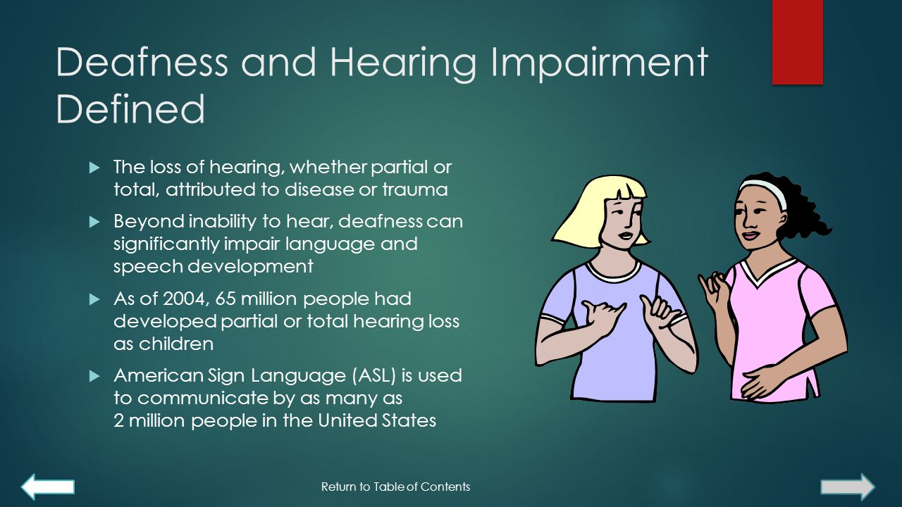 Deafness and Hearing Impairment Defined