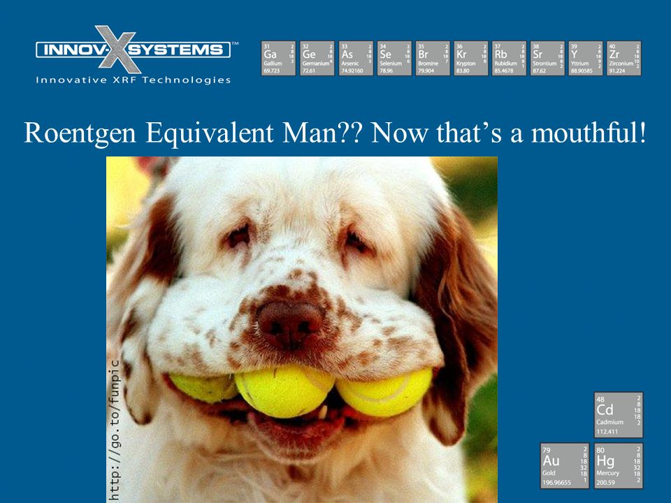 Roentgen Equivalent Man Now that's a mouthful!