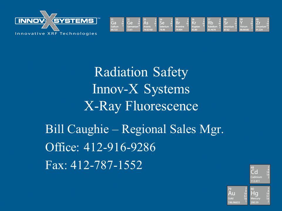 Radiation Safety Innov-X Systems X-Ray Fluorescence