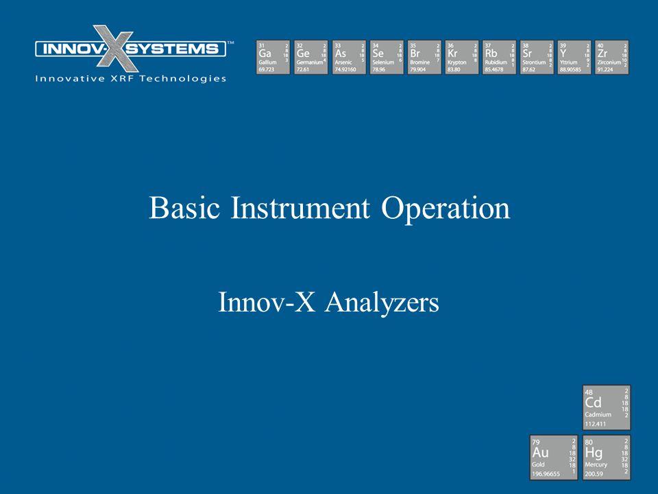 Basic Instrument Operation