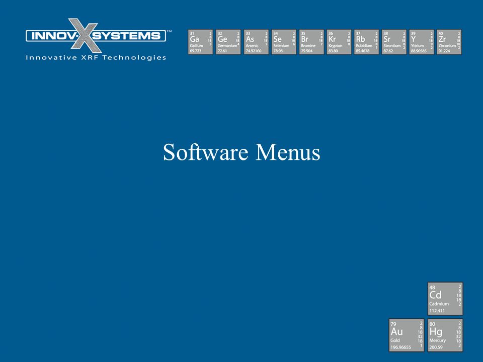 Software Menus