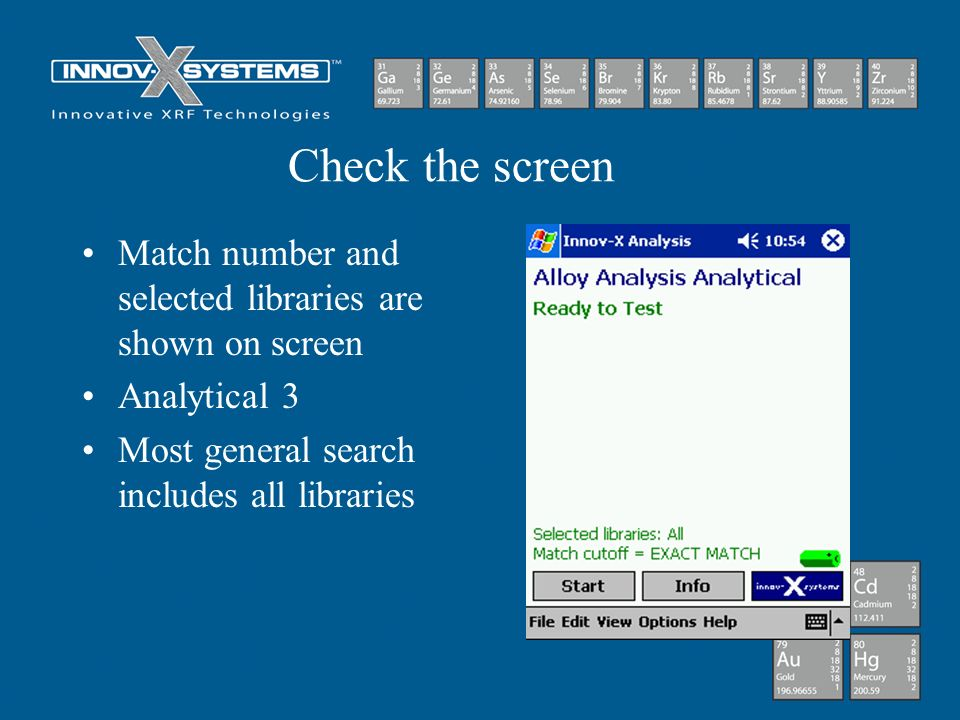 Check the screen Match number and selected libraries are shown on screen.