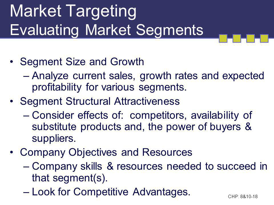 Market Targeting Evaluating Market Segments