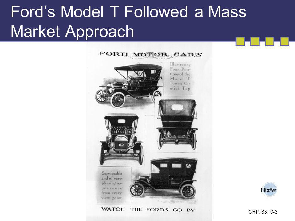Ford's Model T Followed a Mass Market Approach