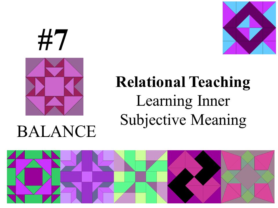 Relational Teaching Learning Inner Subjective Meaning