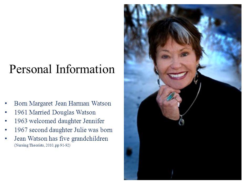 Personal Information Born Margaret Jean Harman Watson