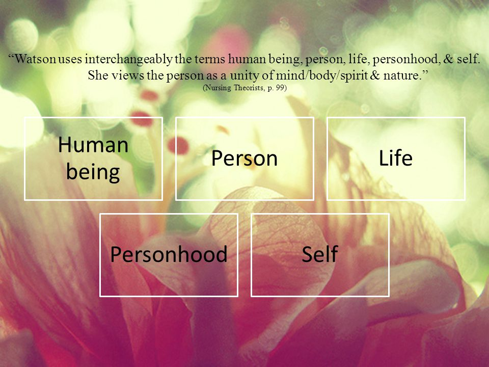 Human being Person Life Personhood Self