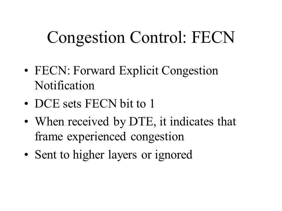 Congestion Control: FECN
