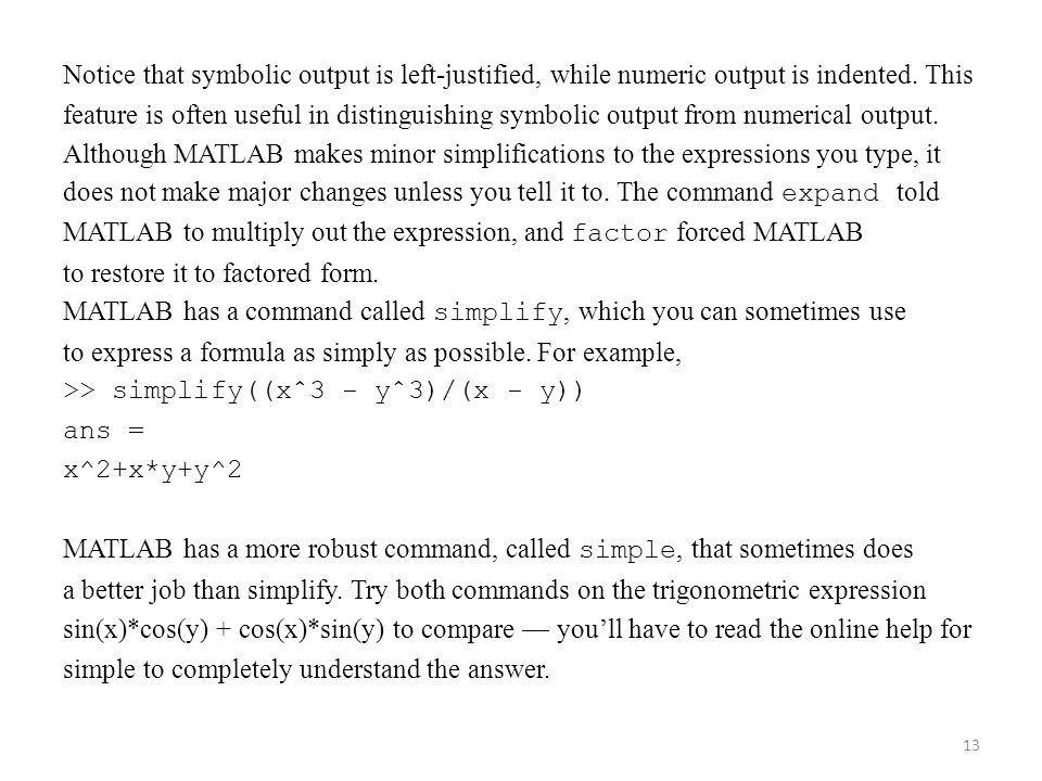 programming for nuclear engineers lecture matlab ppt  13 notice