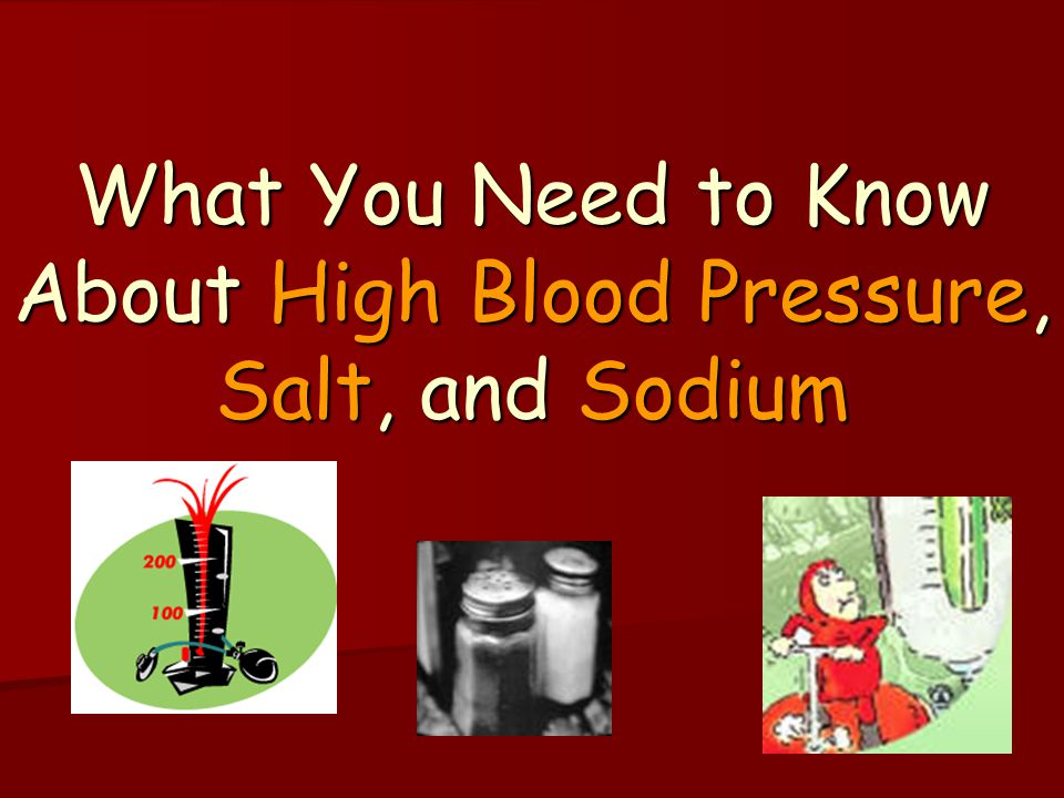 sodium and blood pressure pdf