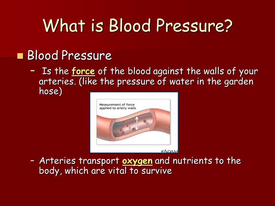 What is Blood Pressure Blood Pressure