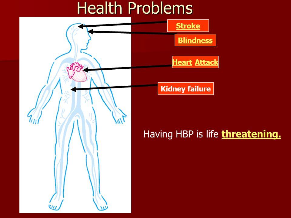 Having HBP is life threatening.