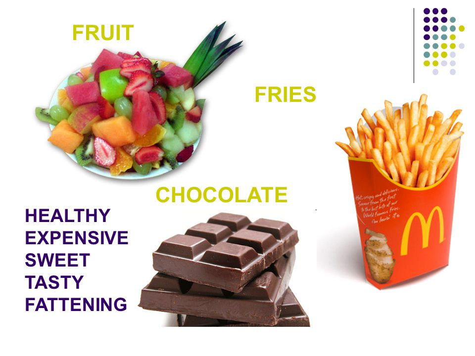 FRUIT FRIES CHOCOLATE HEALTHY EXPENSIVE SWEET TASTY FATTENING