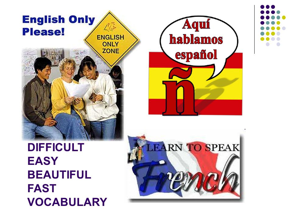 DIFFICULT EASY BEAUTIFUL FAST VOCABULARY