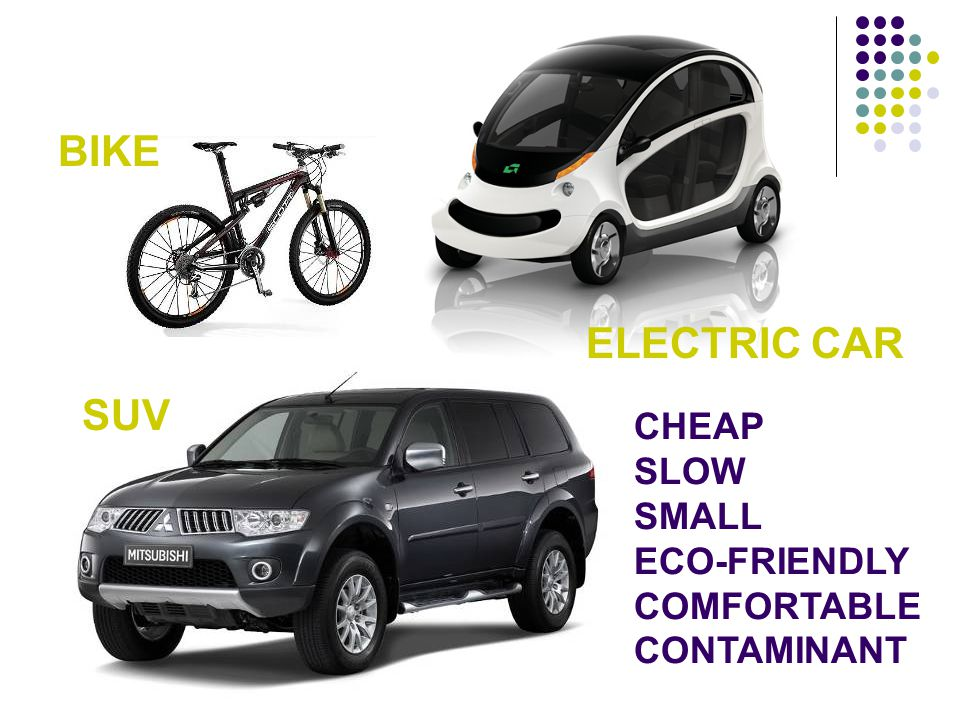 BIKE ELECTRIC CAR SUV CHEAP SLOW SMALL ECO-FRIENDLY COMFORTABLE
