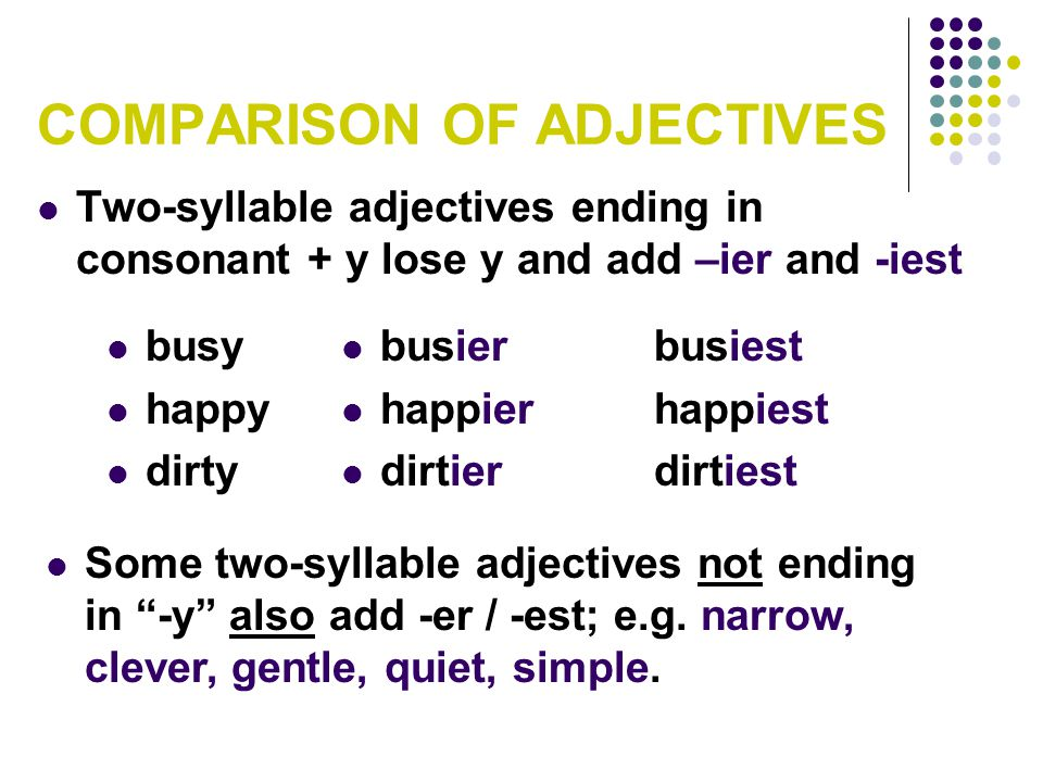 COMPARISON OF ADJECTIVES