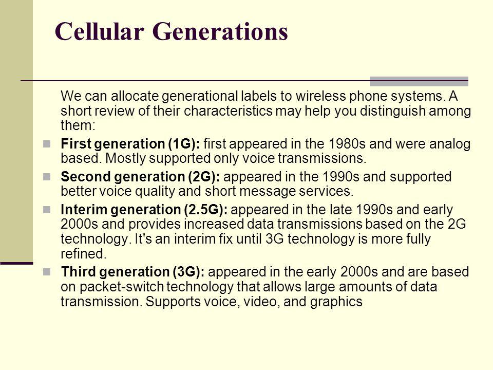 Cellular Generations