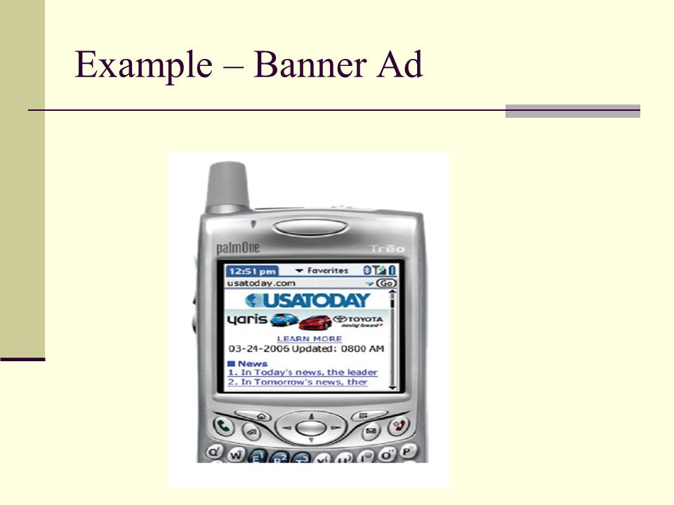 Example – Banner Ad