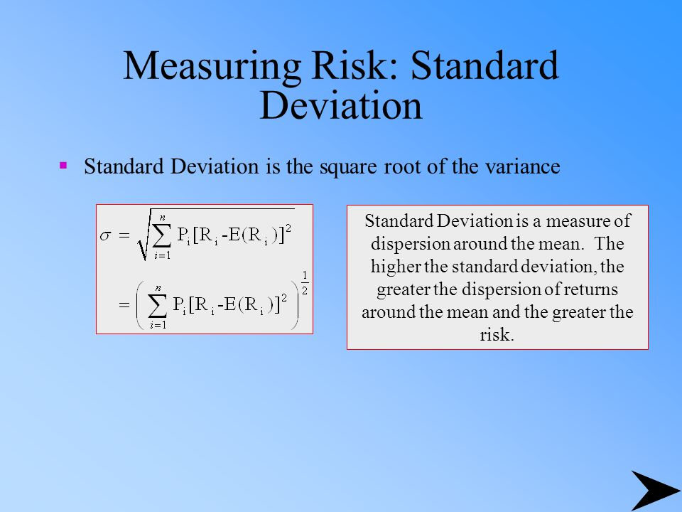 Measuring Risk: Standard Deviation