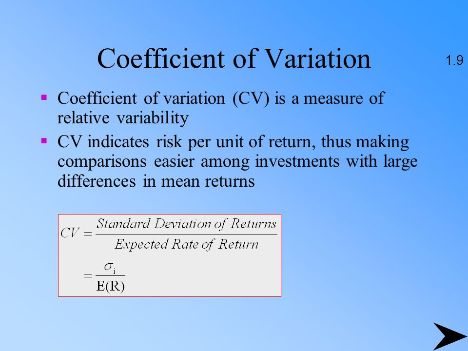 Coefficient of Variation