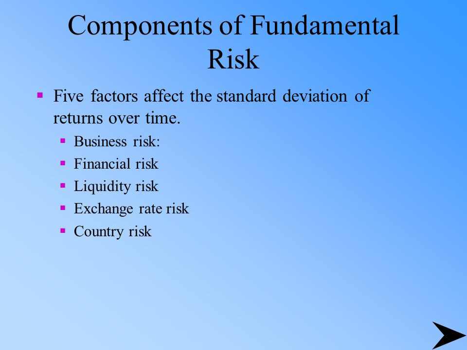 Components of Fundamental Risk
