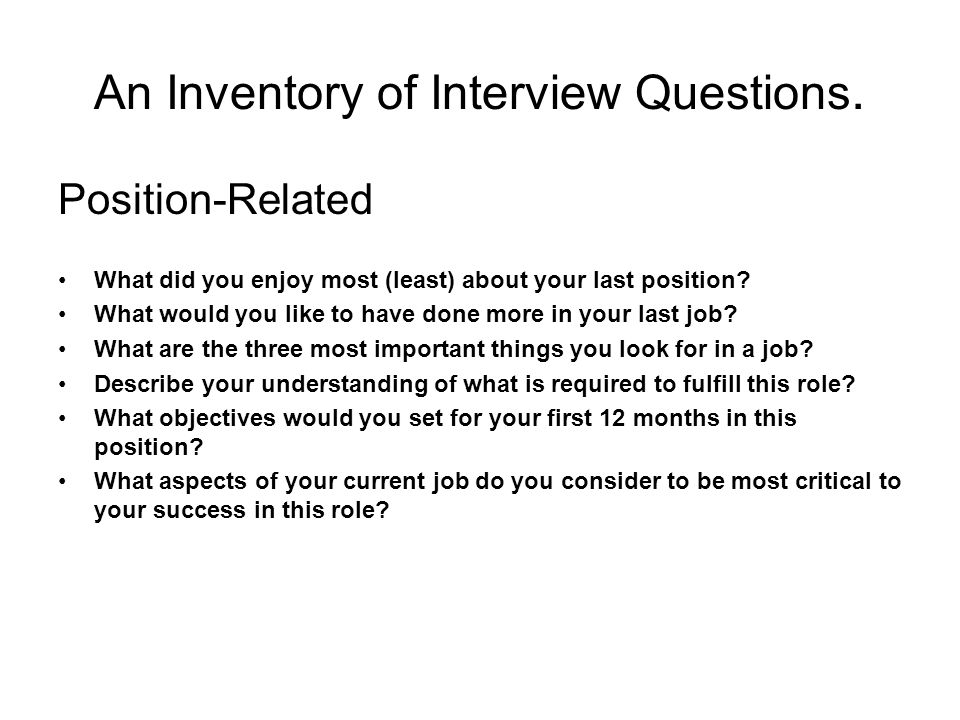 ... Interview Question: U0027what Is Your. Describe Your Ideal Job