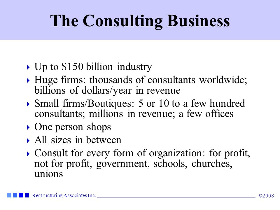 The Consulting Business