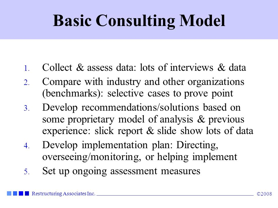 Basic Consulting Model