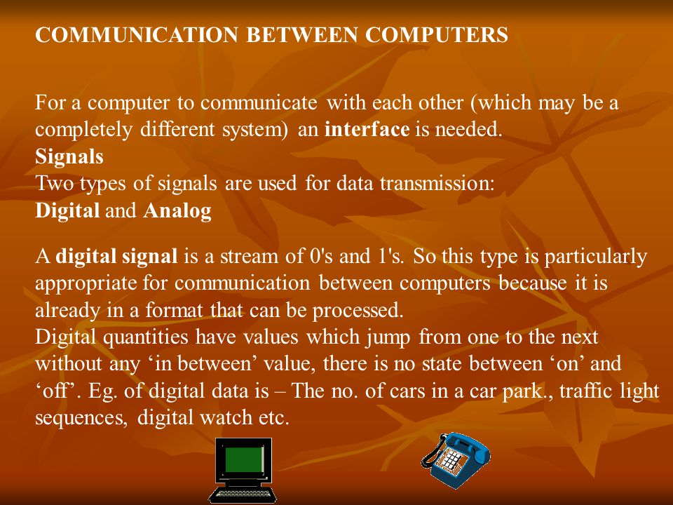 COMMUNICATION BETWEEN COMPUTERS