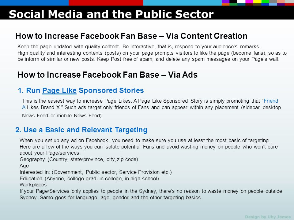 Social Media and the Public Sector