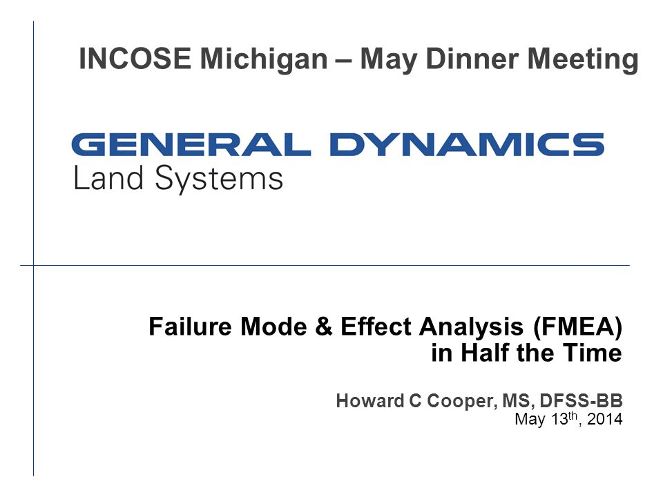 INCOSE Michigan – May Dinner Meeting