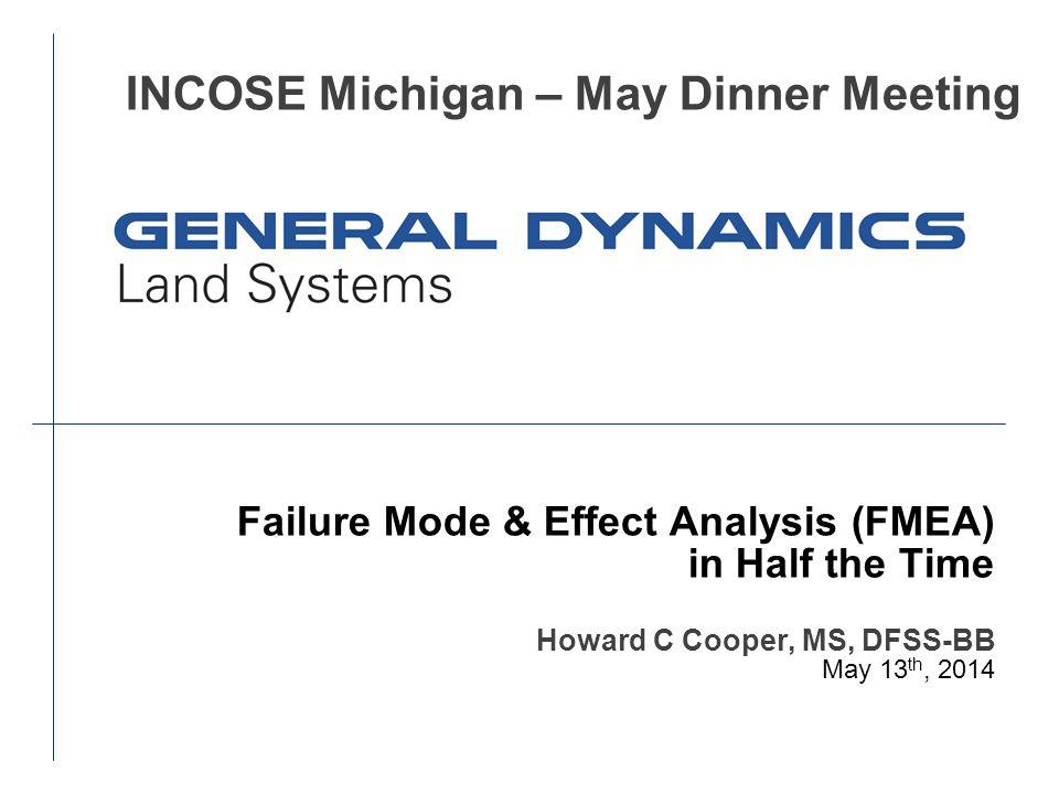 INCOSE Michigan – May Dinner Meeting