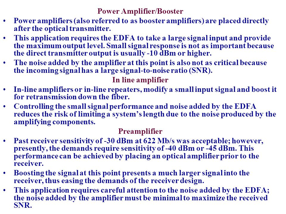 Power Amplifier/Booster