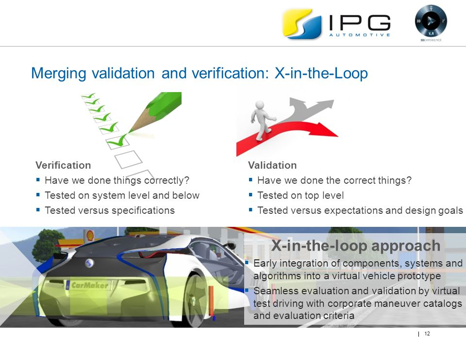 Merging validation and verification: X-in-the-Loop