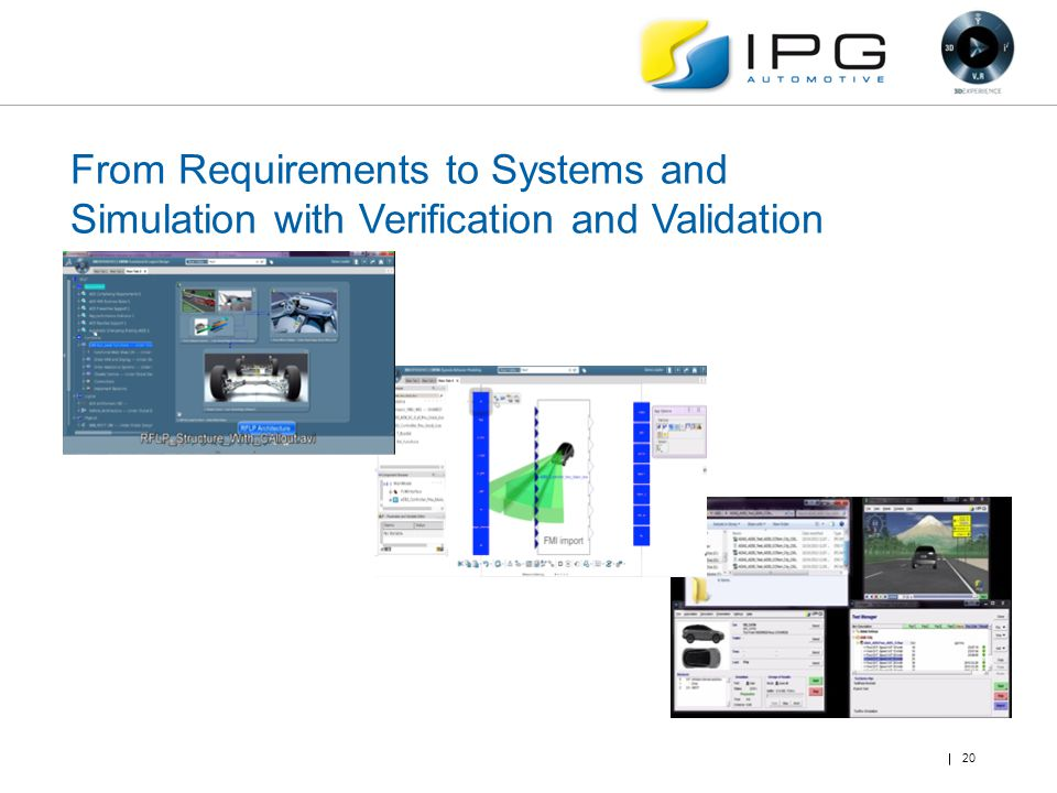 From Requirements to Systems and Simulation with Verification and Validation