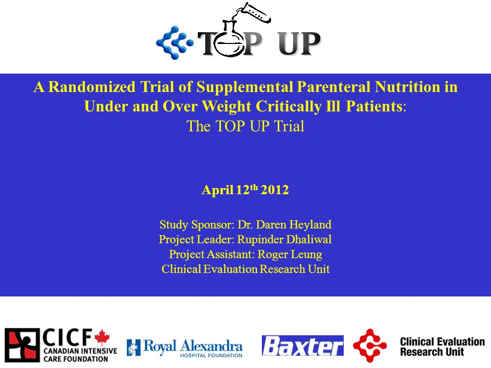A Randomized Trial of Supplemental Parenteral Nutrition in