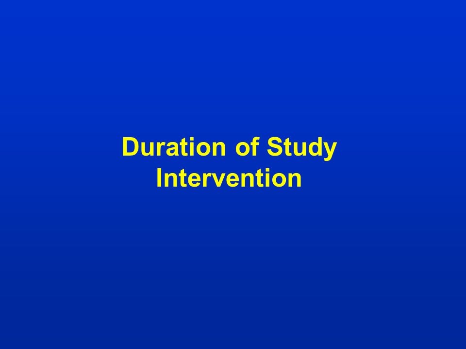 Duration of Study Intervention