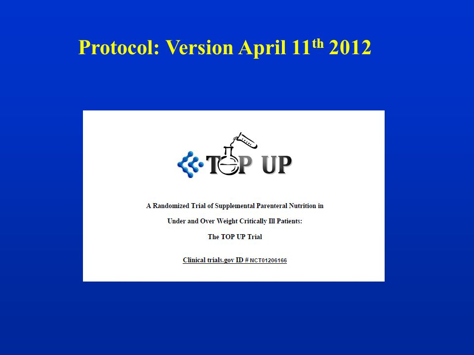 Protocol: Version April 11th 2012