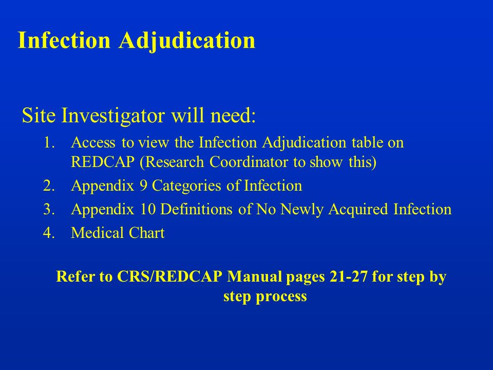 Infection Adjudication